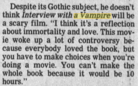 interview with the vampire research paper Buy interview with the vampire: number 1 in series (vampire chronicles) by  anne rice  thrilling a strikingly original work of the imaginationunforgettable.