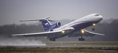RF-85655 (tynophotography) Tags: eddk cgn cologne airport bonn open skies rf85655 tu154 tupolev rain spray wet