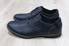 Мужские кожаные туфли на шнурках классического стиля темно-синие (azzafazzara) Tags: туфли обувь кожа