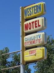 Western Motel in Lander (jimsawthat) Tags: plasticsigns vintagesigns smalltown lander wyoming motel vintagemotel