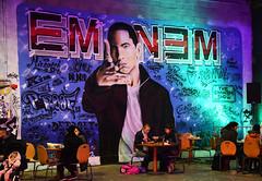 Eminem (HBA_JIJO) Tags: streetart urban graffiti paris art france hbajijo wall mur painting aerosol peinture portrait celebrity murale spray people bombing urbain eminem hiphop rap live songer culture jallal living light star