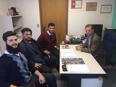 Visita dos empresários do ramo de tabacaria Gabriel, Walid e Guilherme.