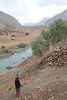 Water Walker (peterkelly) Tags: tajikistan sarytag asia digital canon 6d centralasiaadventurealmatytotashkent gadventures mountains woman carrying bucket water walking head river stream path trail