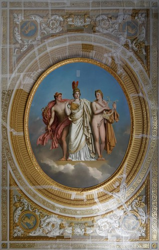 Plafond de la bibliothèque de l'Empereur de Girodet en 1815
