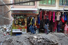 Negotiating the debris field (posterboy2007) Tags: kathmandu nepal trench street debris danger sony