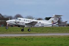 G-ZVIP Capital Air Charter Beech 200 King Air EGJB 30/11/17 (David K- IOM Pics) Tags: gci egjb guernsey airport egl capital air charter prestige beech beechcraft be20 200 king gzvip