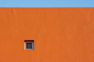 Little window in a orange wall II