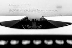 Saturday Self Challenge: Letters of the Alphabet (naturum) Tags: 2017 blackandwhite bw december saturdayselfchallenge ssc typemachine typewriter winter zw zwartwit tekst text