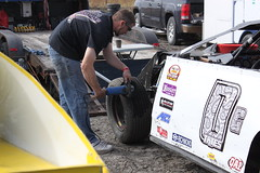 Tire prep (chearn73) Tags: dirttrack modified racing car automotive motorsports person tires winnipeg manitoba canada