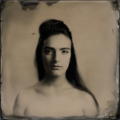 Violette - Square portrait 1 (patrickvandenbranden) Tags: 11x11 27x27cm alternativeprocess ambrotype bw beauté blackandwhite bokeh collodion collodionhumide cookeaviar320 darkroom fineart flash glassplate grandformat largeformat makeup monochrome noiretblanc portrait pretty studio wetplate