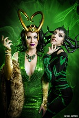 With Villains Like This, Who Needs Heroes? [Explore] (Ring of Fire Hot Sauce 1) Tags: cosplay gogoincognito sylviaslays ladyloki hela thor sandiegocomiccon sdcc