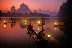 (aeroman3) Tags: china chinese guangxi liriver lijiang guilinyangshuoxingpingfishermanfishermencormorantscormorant fishermen