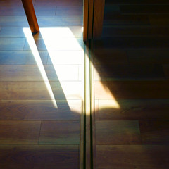 構成=Composition-133/The lines sleeping in darkness and light (kouichi_zen) Tags: room shadow wood floor light brown door