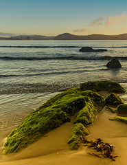 Early Morning at the Seaside (Merrillie) Tags: daybreak uminabeach moss landscape nature australia mountains nswcentralcoast newsouthwales clouds nsw uminapoint beach scenery centralcoastnsw rocks coastal waterscape centralcoast seascape sunrise coast water sea