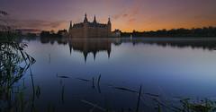 Castle in the morning (The Bald Dude) Tags: castle denmark fairytale lake sea towers sunrise
