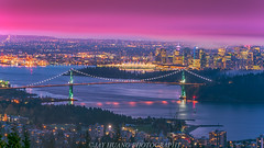 Vancouver Skyline (Jaykhuang) Tags: vancouver britishcolumbia canada downtown liongatebridge bluehour lights cloudy jayhuangphotography cypressmountain