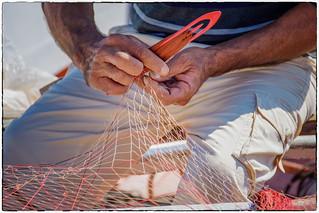 Lipari , Marina Corta ... un pescatore ...