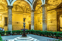 First Courtyard of Palazzo Vecchio, Florence, Italy (vdwarkadas) Tags: palazzovecchio piazzadellasignoria florence italy palace townhall courtyard puttowithdolphin fresco frescos sony sonya6000 sonyilce6000