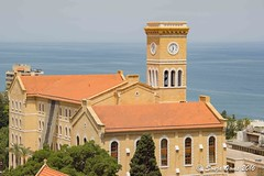 TOWER AUB (Sonja Ooms) Tags: american americanuniversitybeirut aub beirut lebanon mediterranean sea university view