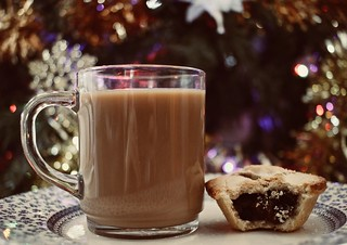 Coffee and a mince pie...