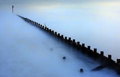 Diagonal (PeskyMesky) Tags: aberdeen aberdeenbeach longexposure le groyne water ocean sea landscape scotland flickr blue