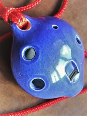 baby blues (jenbrasnett) Tags: ocarina blue macro mondays members choice musical instruments make me smile 7dwf round theme