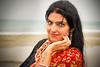 Kaur - Colors of India (ESTjustPHOTO - Elias S Tilavgi) Tags: india rainy day portrait blue eyes sea seascape tattoo asia rain cloudy hair