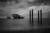 Brighton (Ferdinand Bart Alst - Pixel Your Soul Photography) Tags: brighton pier england unitedkindom bw blackwhite blackandwhite filmnoir texture texturized overlay landscape seascape abandoned skeleton sky sea longexposure
