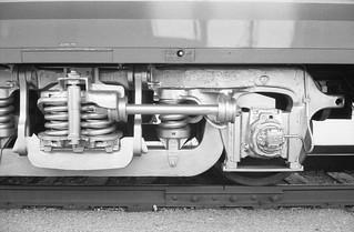 Union Pacific 844 at the Union Station in Ogden, Utah. Camera: Minolta Hi-Matic 7S (1966). Film: Ilford HP5 Plus 400.