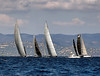 Sailing boats in the race (Sergey_pro) Tags: sail race sailboat outdoor cruise adventure seaman nautical white pursuit row windy holiday teamwork sunny horizon yachting luxury summer waves ship freedom yacht regatta bow team recreation transport lifestyle winner wind blue speed sky competition boat sea water navigation crew vessel