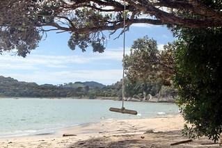 Vacances en bord de mer du côté de Coromandel Peninsula, Nouvelle Zélande
