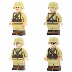 WW1 Ottoman Soldiers (X39BrickCustoms .com) Tags: lego world war battlefield minifigures helmets printed