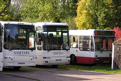 Smiths of Ledbury Depot. (KK70088) Tags: bus coachoperator touristcoach smiths ledbury plaxton volvo n50tgm n813wfr