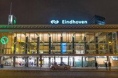 Eindhoven central station (George Pachantouris) Tags: eindhoven philips glow festival light lamps lamp show street life photography night dark