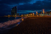City by the sea... (Dafydd Penguin) Tags: city by sea beach urban town harbour water waterside night shots after dark high iso sand nighttime colour barcelona catalunya catalonia spain nikon df nikkor 35mm af f2d
