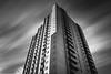 Kolossos (s.W.s.) Tags: blackandwhite longexposure neutraldensity building architecture architectural urban city quebec clouds block nikon d3300 lightroom beton