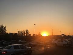 Sunset! (bamdadnorouzian) Tags: beautiful focus asia tehran iran camera iphone shining orange yellow cold winter street sunset sun