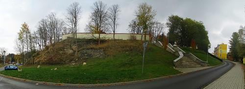 Panoramtický snímek vrchu v ulici Moravská