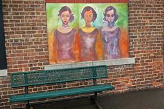 Women, Binghamton, NY (Robby Virus) Tags: binghamton newyork ny state upstate street art woman portrait painting lady girl