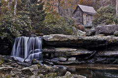 At Babcock State Park (jed52400) Tags: babcockstatepark gladecreekgristmill clifftop westvirginia nature trail hiking waterfalls creek longexposure rocks trees fallfoliage hdr mill