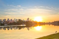 Sunset (Explore) (Vinicius_Ldna) Tags: 7355 sunset pordosol sol sun ceu sky lago lake igapo reflexo reflection agua water city canon 1855 londrina parana brazil