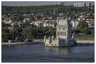 Lisbon, Tour de Belem from the river Tagus_DSF9196
