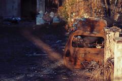 Burned Car (Adam R.T.) Tags: car burned urbex urbexground urbexeurope urbain ruin rusted decay decrepitude desperate decline emptiness