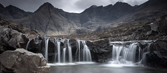 Fairy Pools Pano (PeterYoung1.) Tags: atmospheric beautiful canon fairypools landscape mountains nature pools rocks hills scenic scotland scottish skye pano uk waterfall water