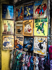 Marvel-lous Signs and Scarves (Katrina Wright) Tags: iphone6 newyork usa comic character anime toys superheroes comicbook marvel img0660 scarves souvenir signs pictures wallhanging