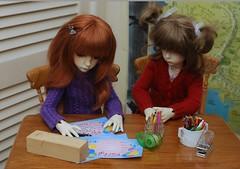 Invitation (Little little mouse) Tags: dollstown ganga susie dt7 bjd dollfiedollstown seola7 hazel dollfie bygillknit lynnknit hobbyhorseclub