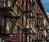 Brooklyn fire escape ladders (lucafabbricesena) Tags: brooklyn new york fire escape ladders pizza teaches stair building brownestone architecture bricks city nikon d800 house outside contrast williamsburg