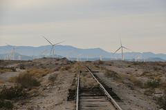Wind Turbines and Wobbly Rail (Arrowhead Fan) Tags: impossible railroad desert line pacific imperial san diego arizona eastern carrizo gorge grade crossing sdae baja bjrr