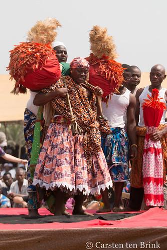 Ouidah festival participant