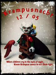 Krampusnach (LegoKlyph) Tags: lego custom bricks blocks mini figure krampus christmas holiday winter ruten stnick monster demon horns scary coal